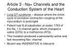 article 3 na channels and the conduction system of the heart