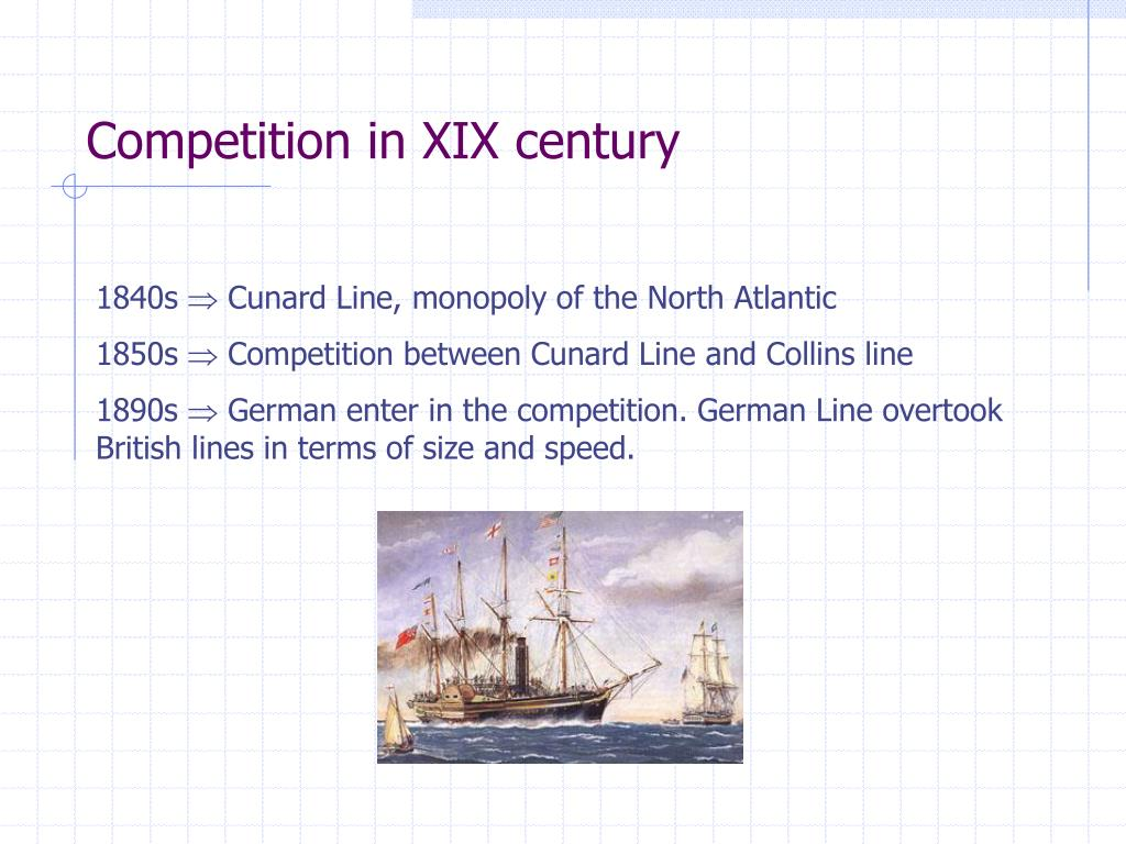Competition in XIX century