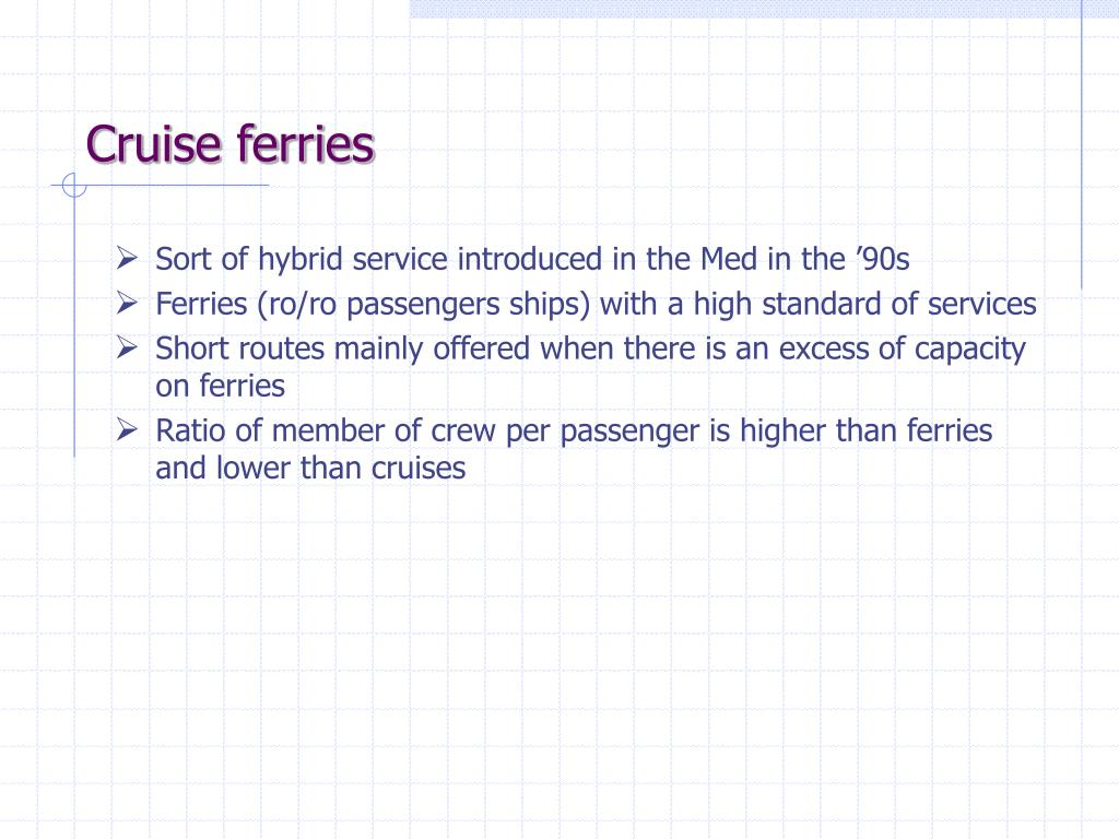 Cruise ferries