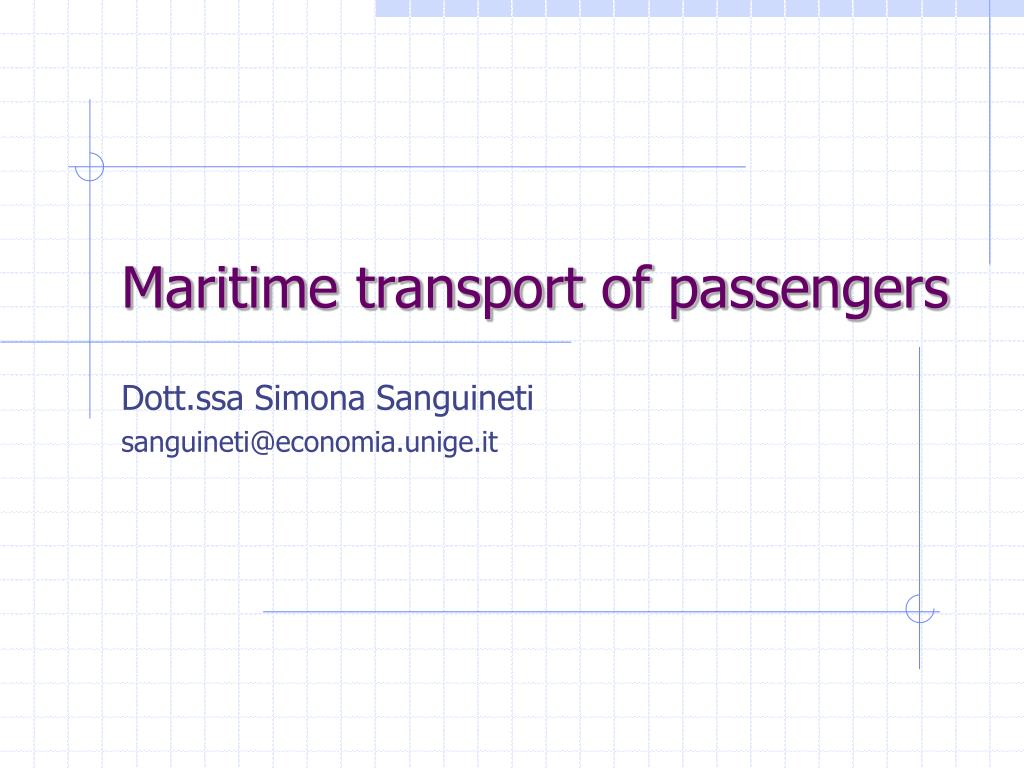 maritime transport of passengers l.