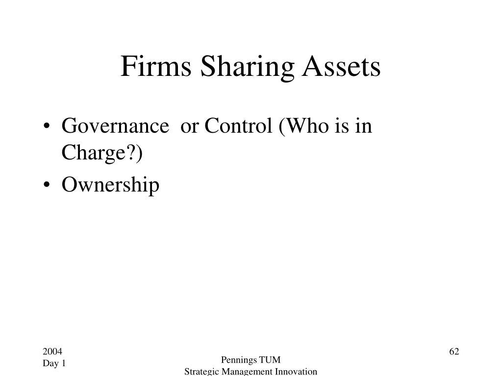 Firms Sharing Assets