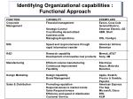 identifying organizational capabilities functional approach