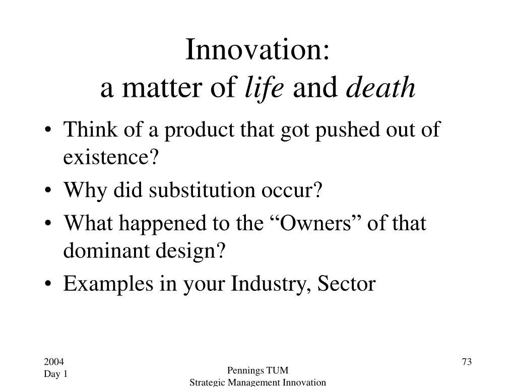 Innovation: