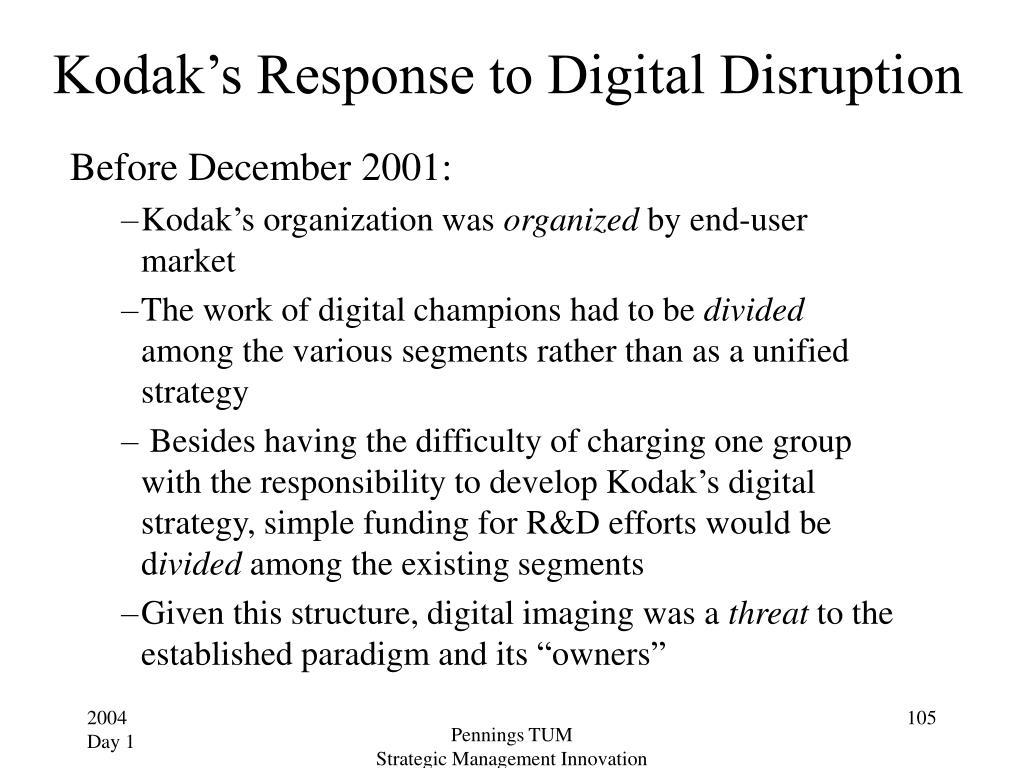 Kodak's Response to Digital Disruption