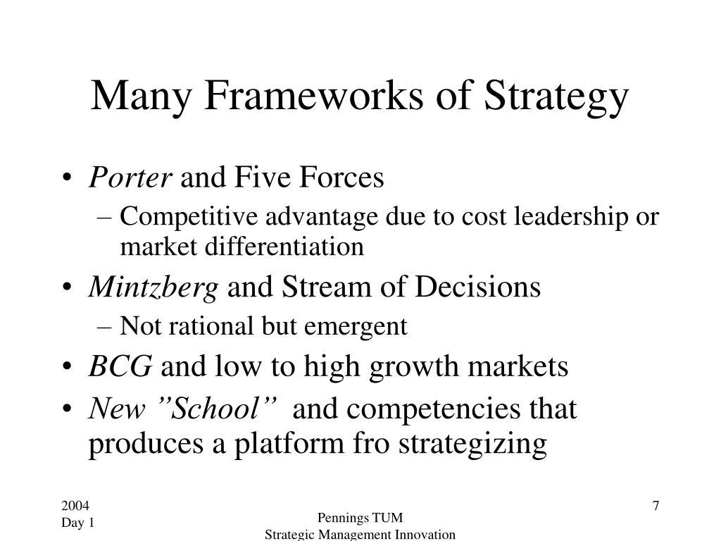 Many Frameworks of Strategy