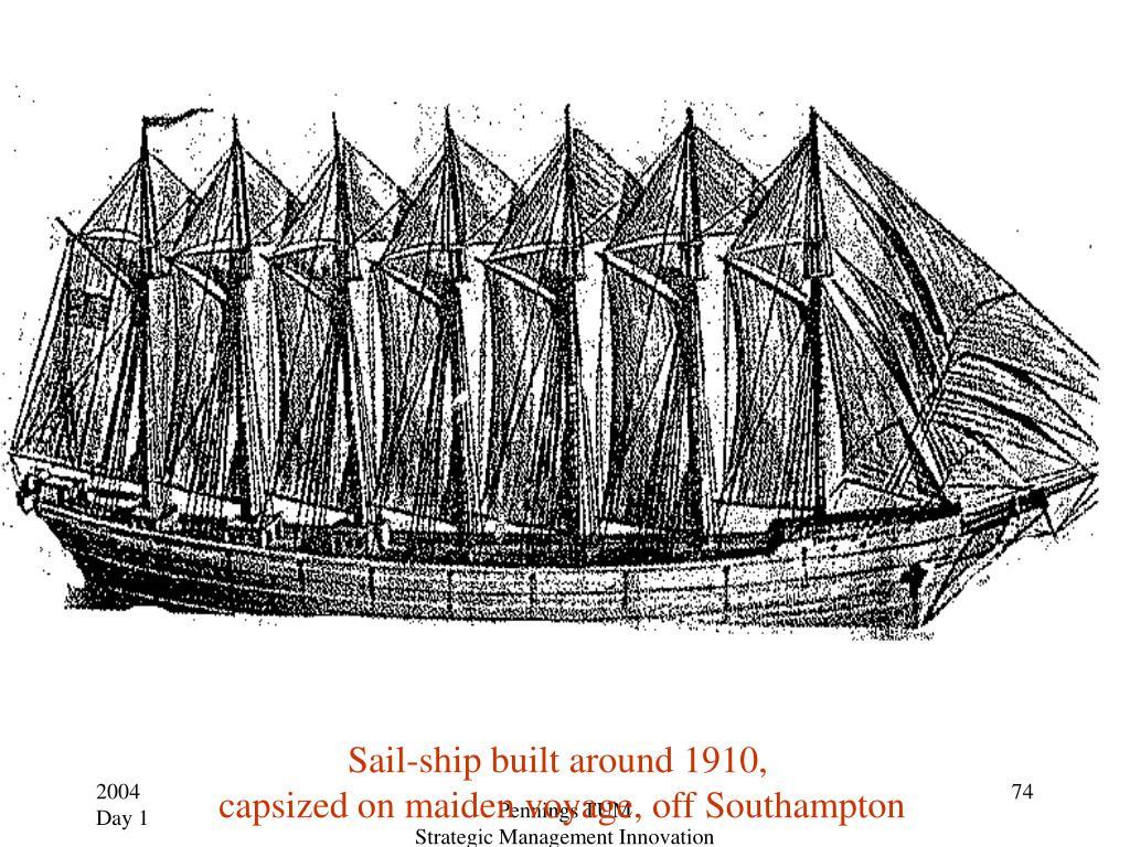 Sail-ship built around 1910,