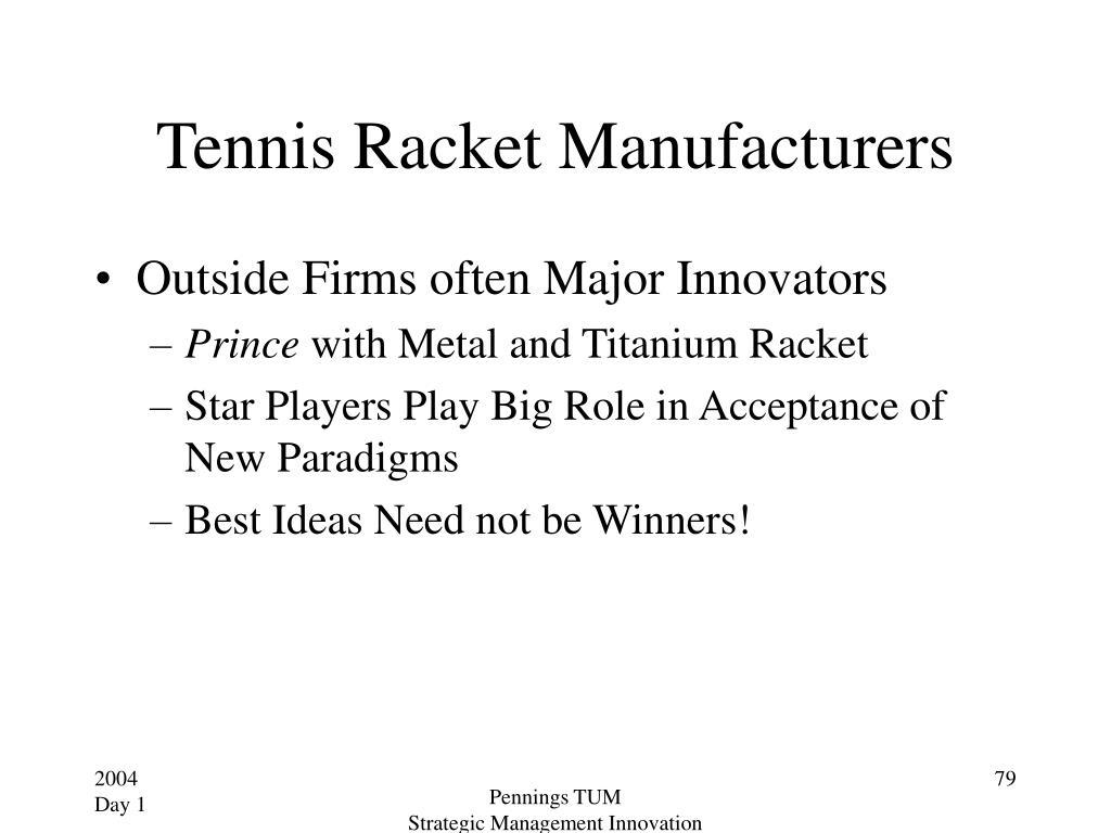 Tennis Racket Manufacturers