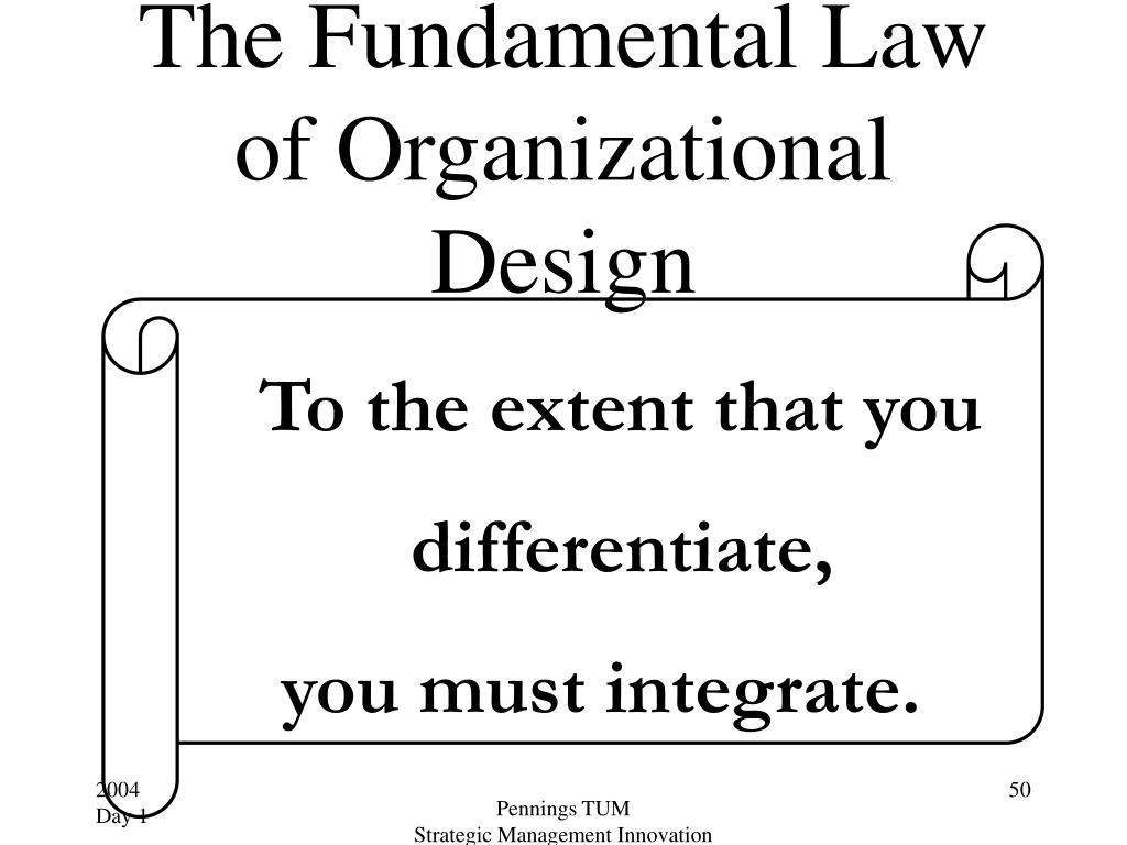 The Fundamental Law of Organizational Design