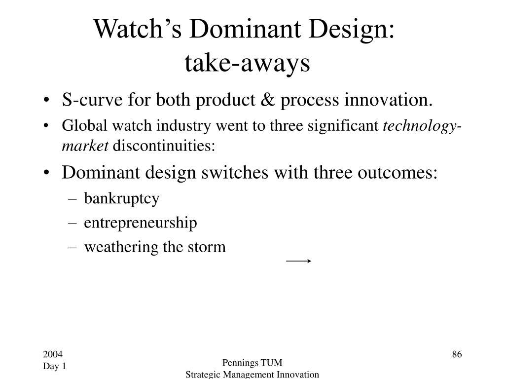 Watch's Dominant Design: