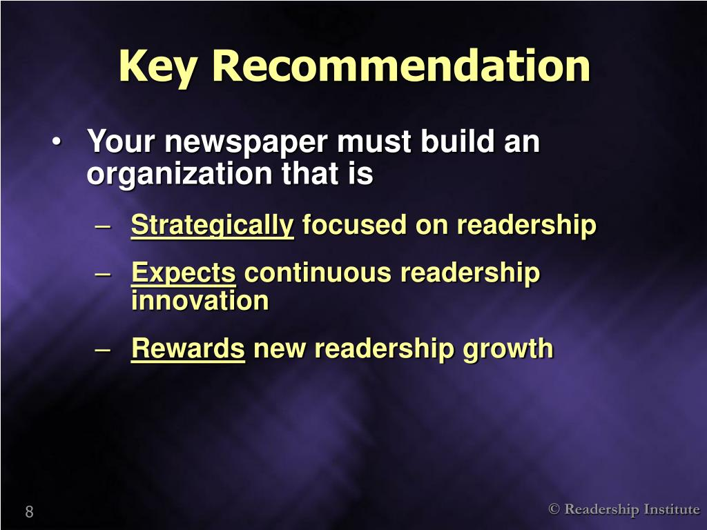 Key Recommendation