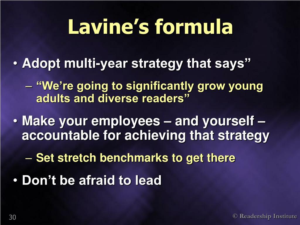 Lavine's formula