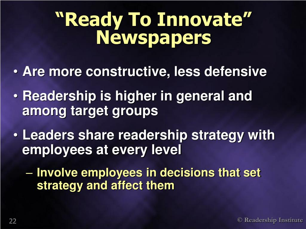 """""""Ready To Innovate"""" Newspapers"""