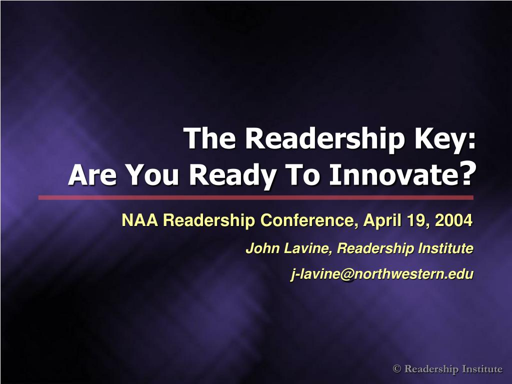 The Readership Key: