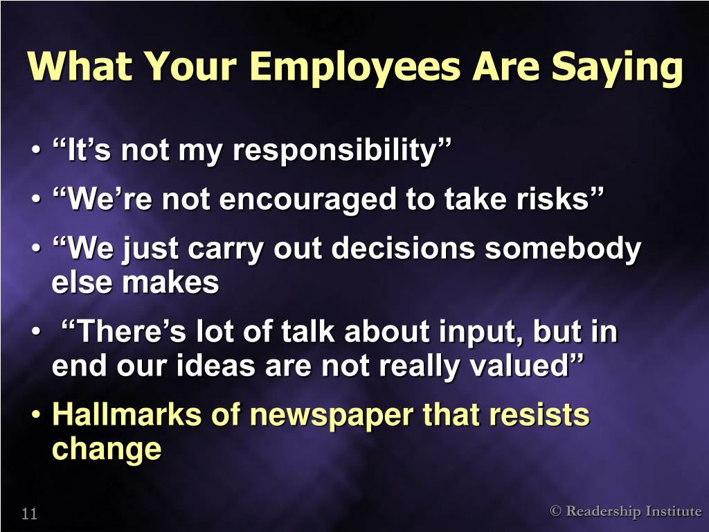What Your Employees Are Saying