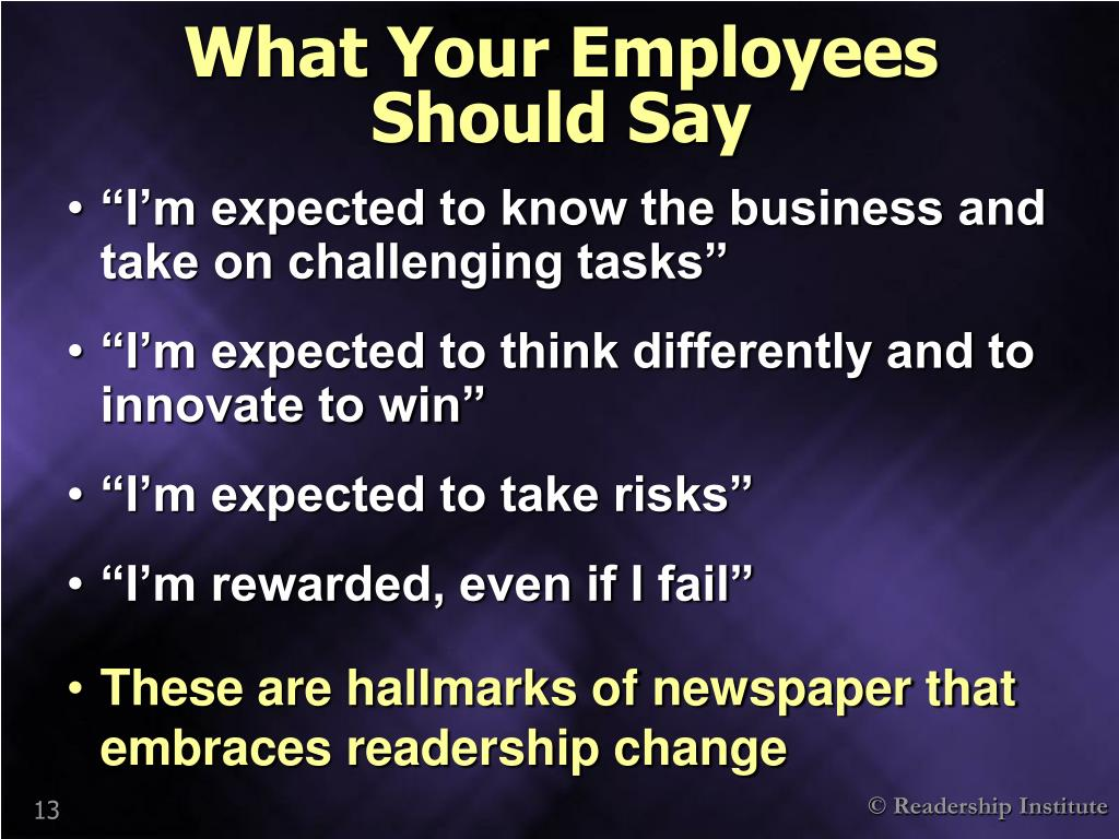 What Your Employees       Should Say