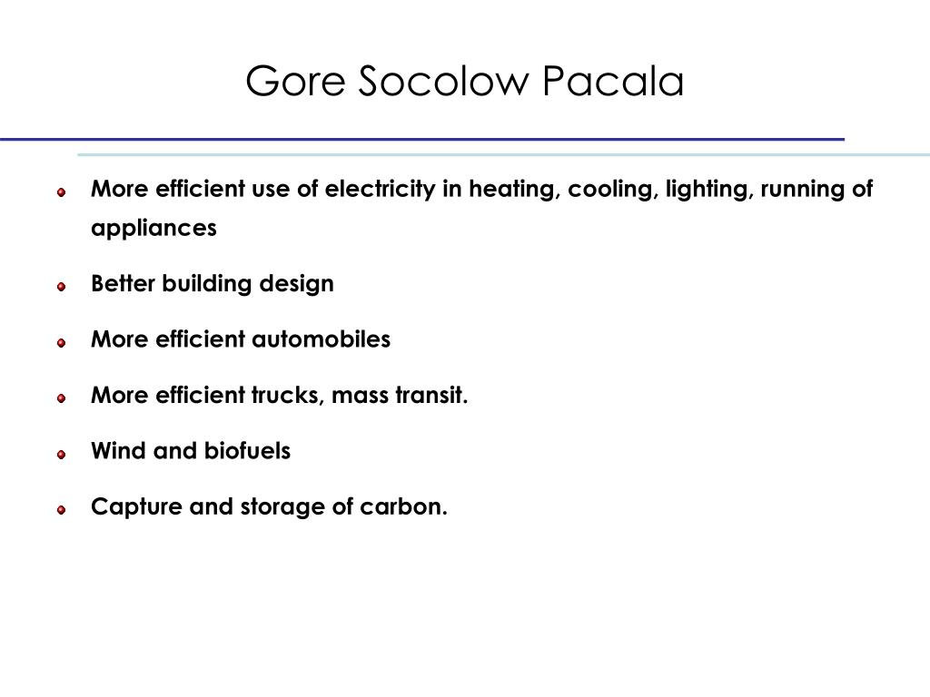 Gore Socolow Pacala