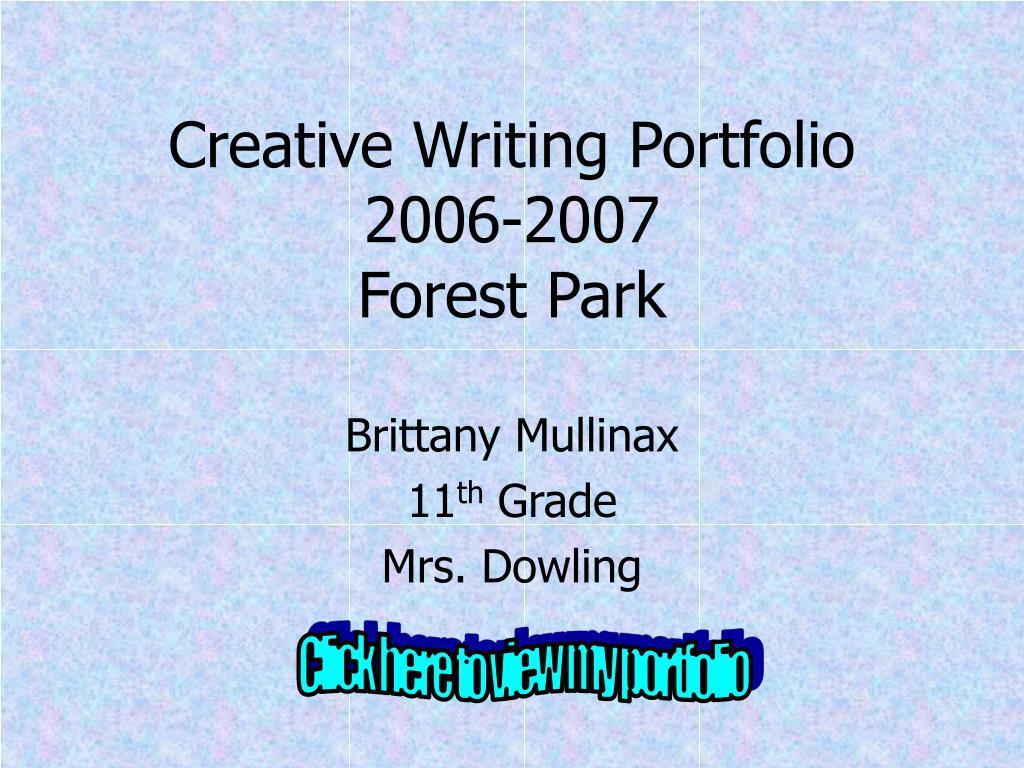 creative writing portfolio 2006 2007 forest park l.