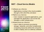 nist cloud service models
