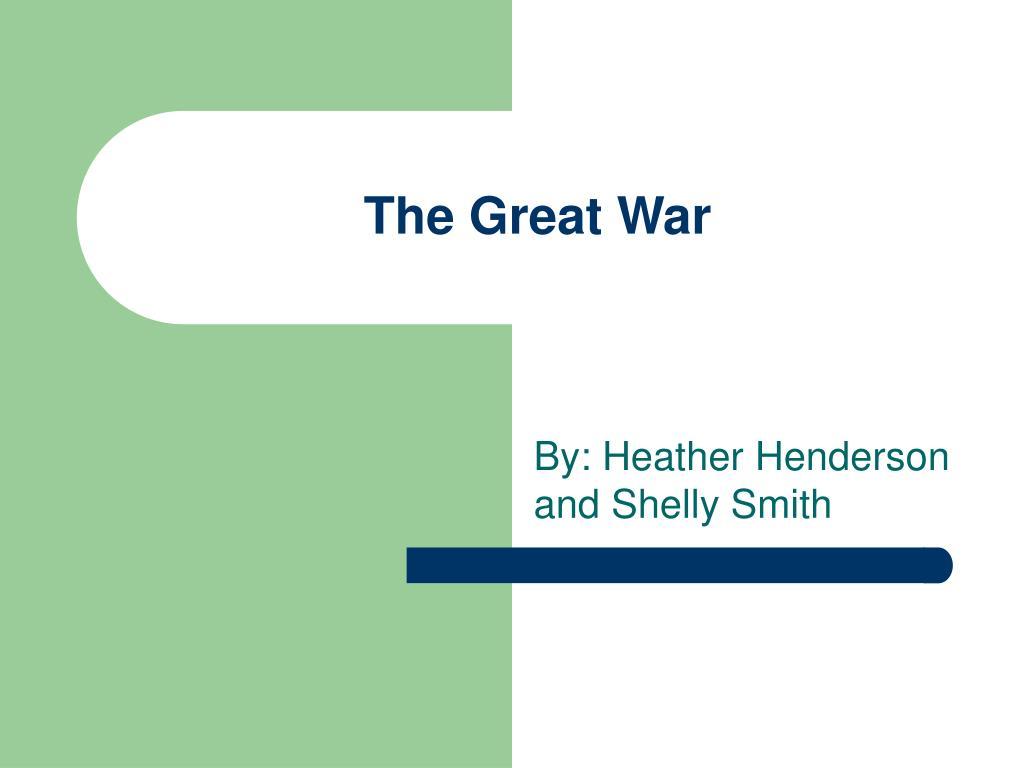 the great war l.