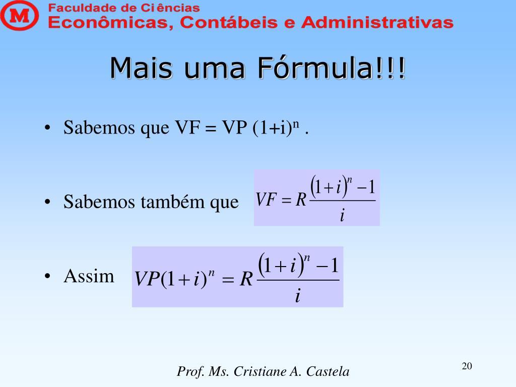 Mais uma Fórmula!!!
