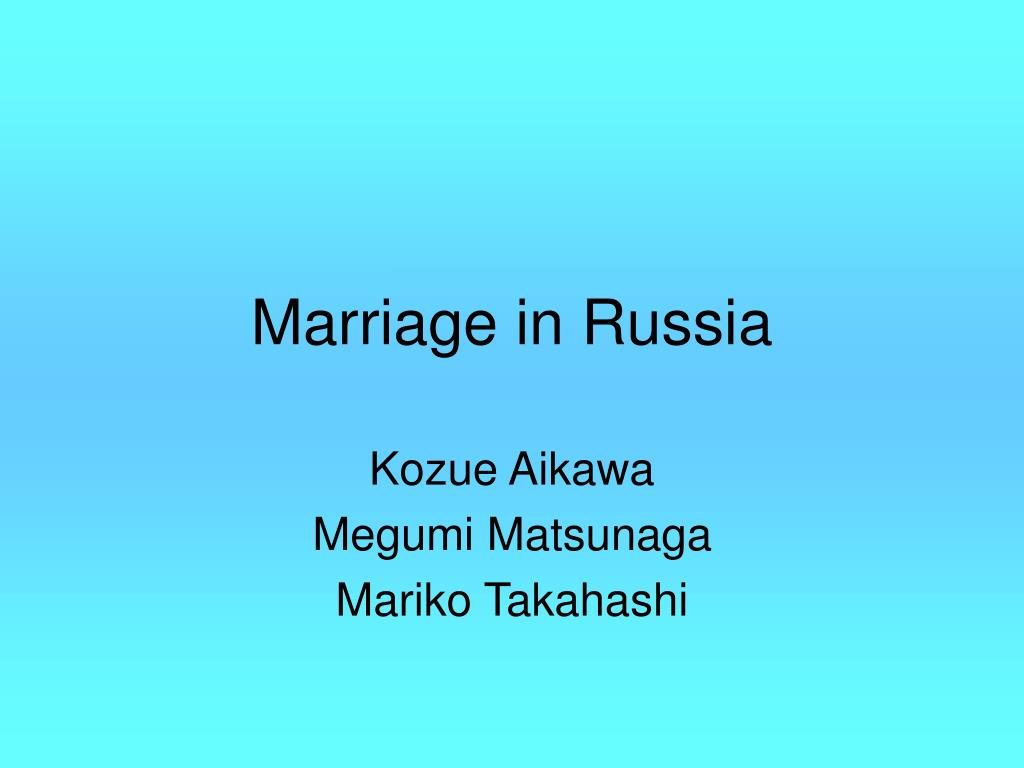 marriage in russia