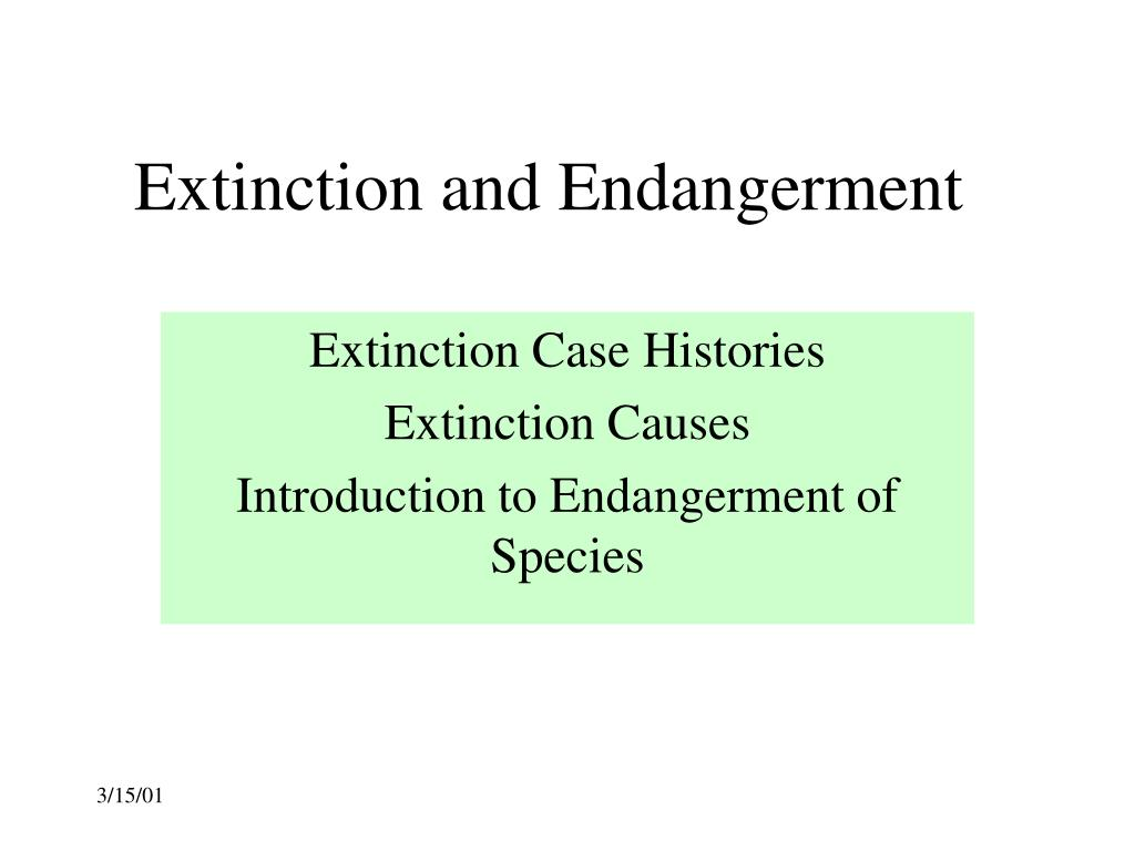 extinction and endangerment l.