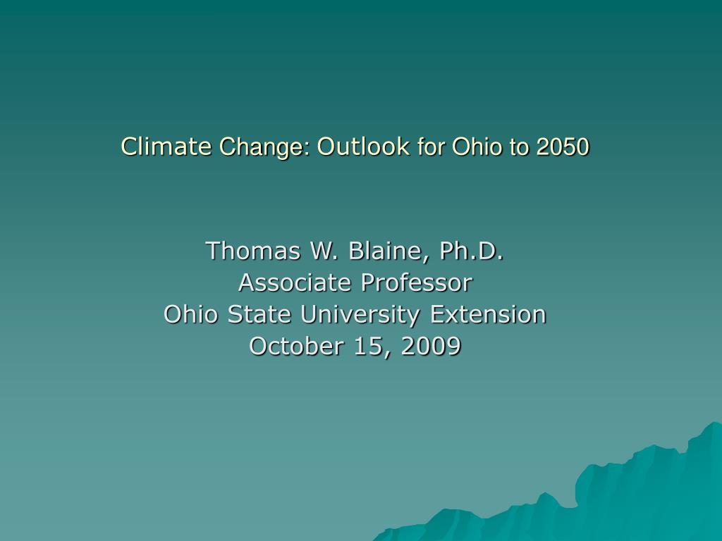 climate change outlook for ohio to 2050 l.