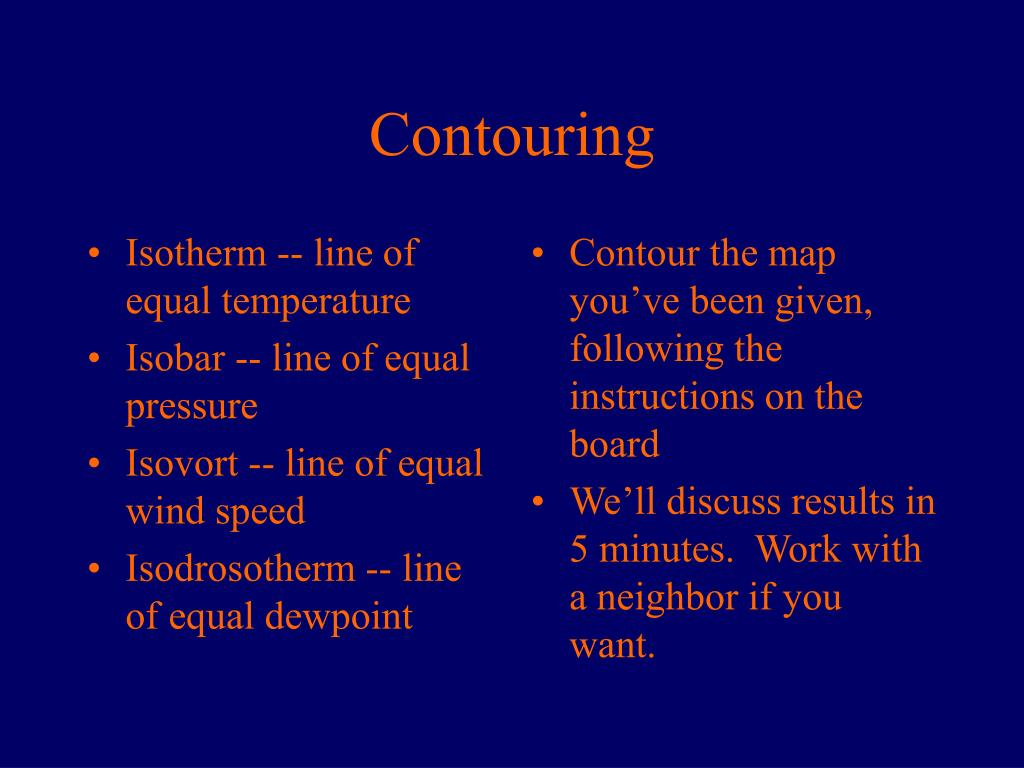 Isotherm -- line of equal temperature