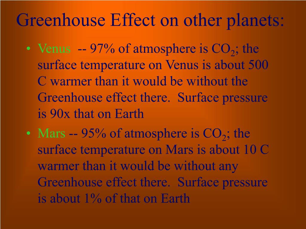 Greenhouse Effect on other planets:
