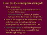 how has the atmosphere changed41