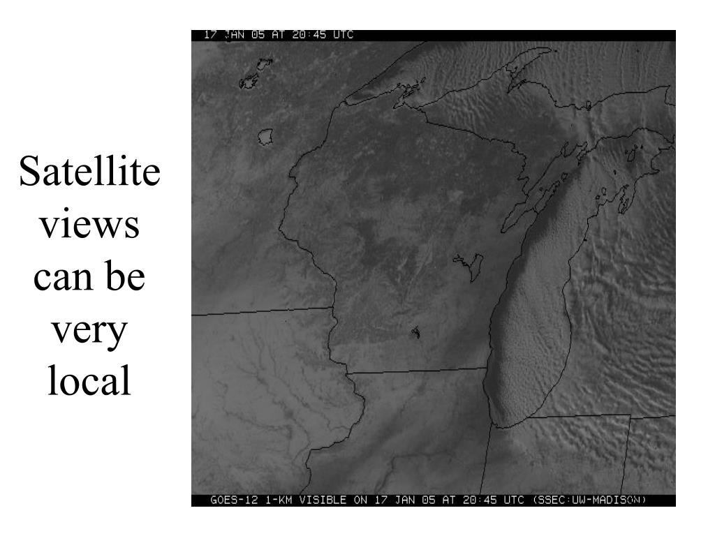 Satellite views can be very local