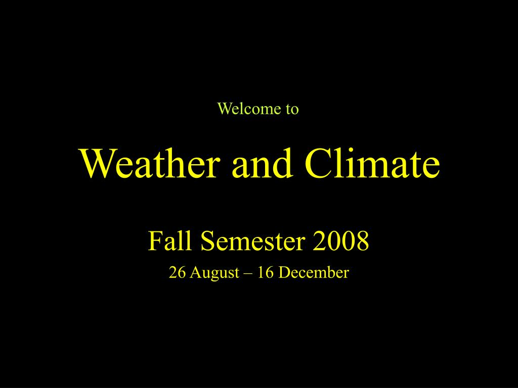 weather and climate l.