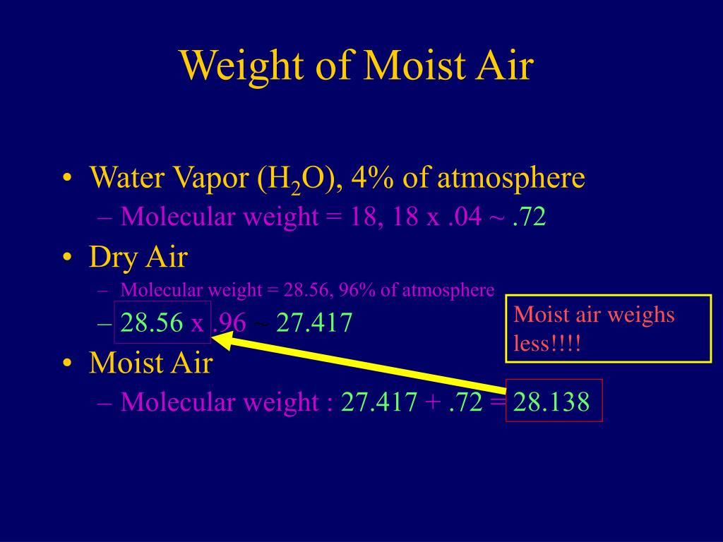 Weight of Moist Air