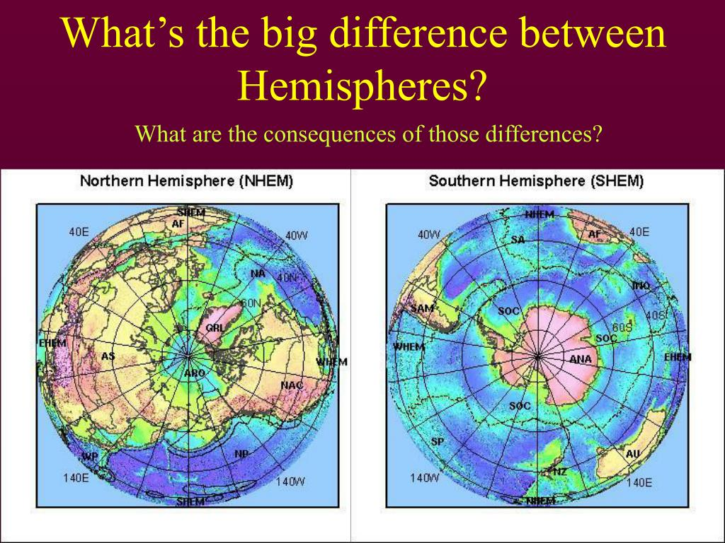 What's the big difference between Hemispheres?