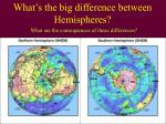 what s the big difference between hemispheres