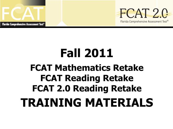 an introduction to the fcat florida comprehensive assessment test