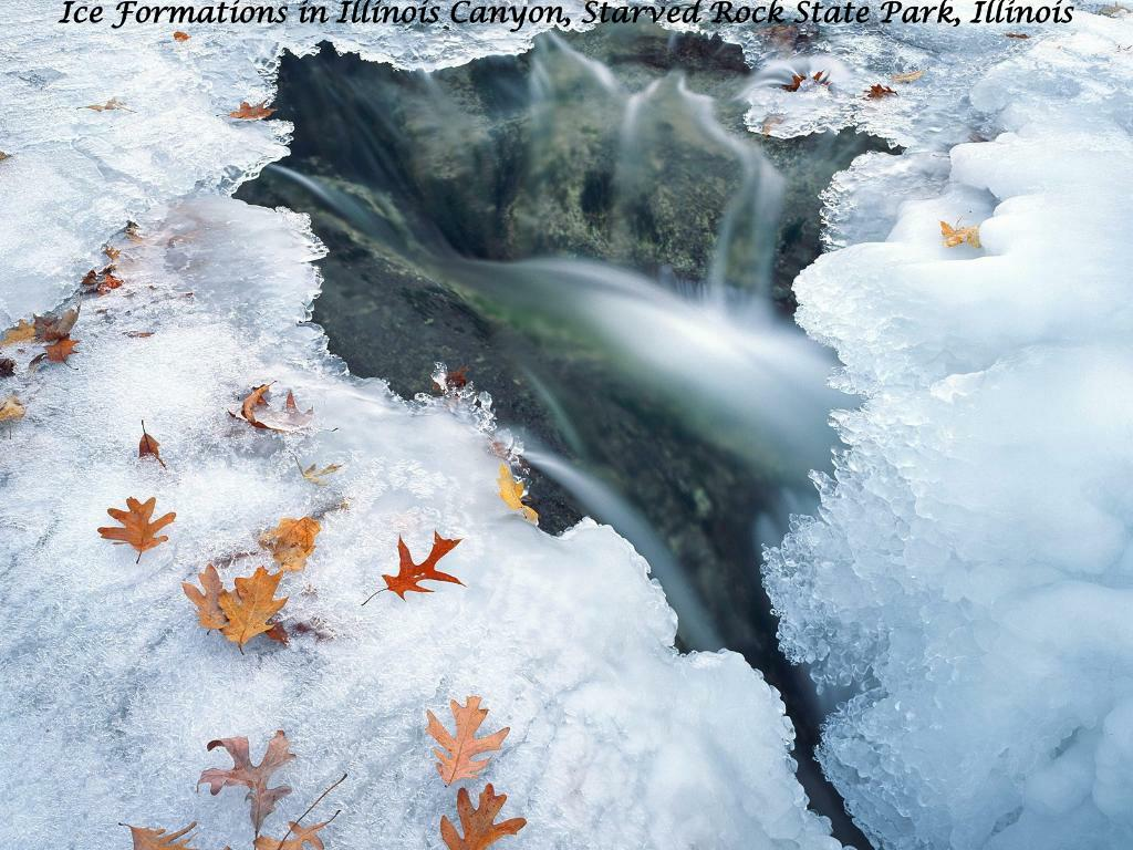 Ice Formations in Illinois Canyon, Starved Rock State Park, Illinois