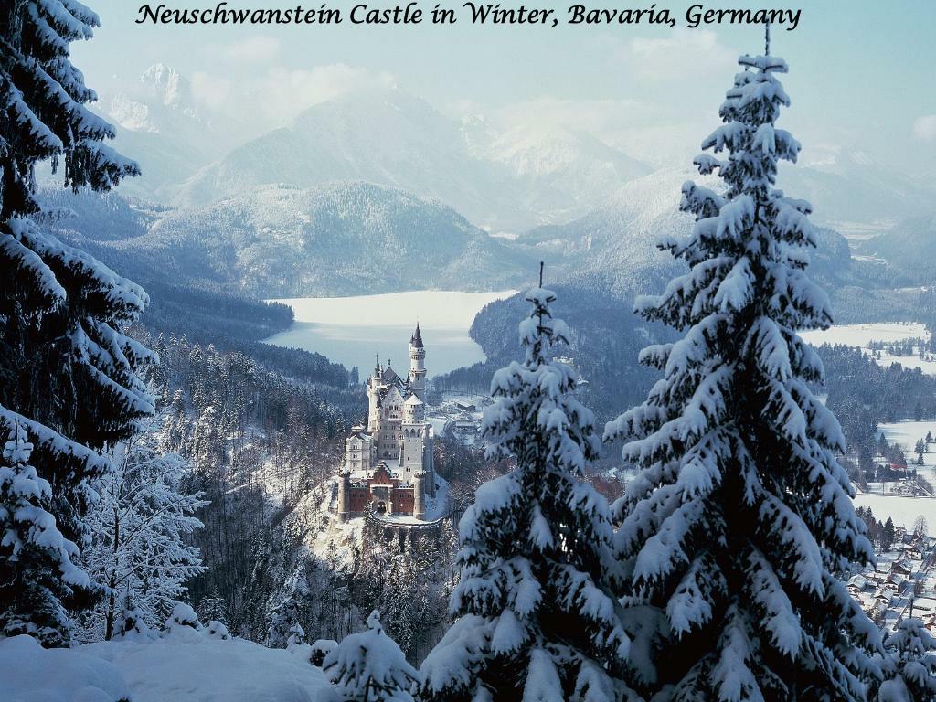Neuschwanstein Castle in Winter, Bavaria, Germany