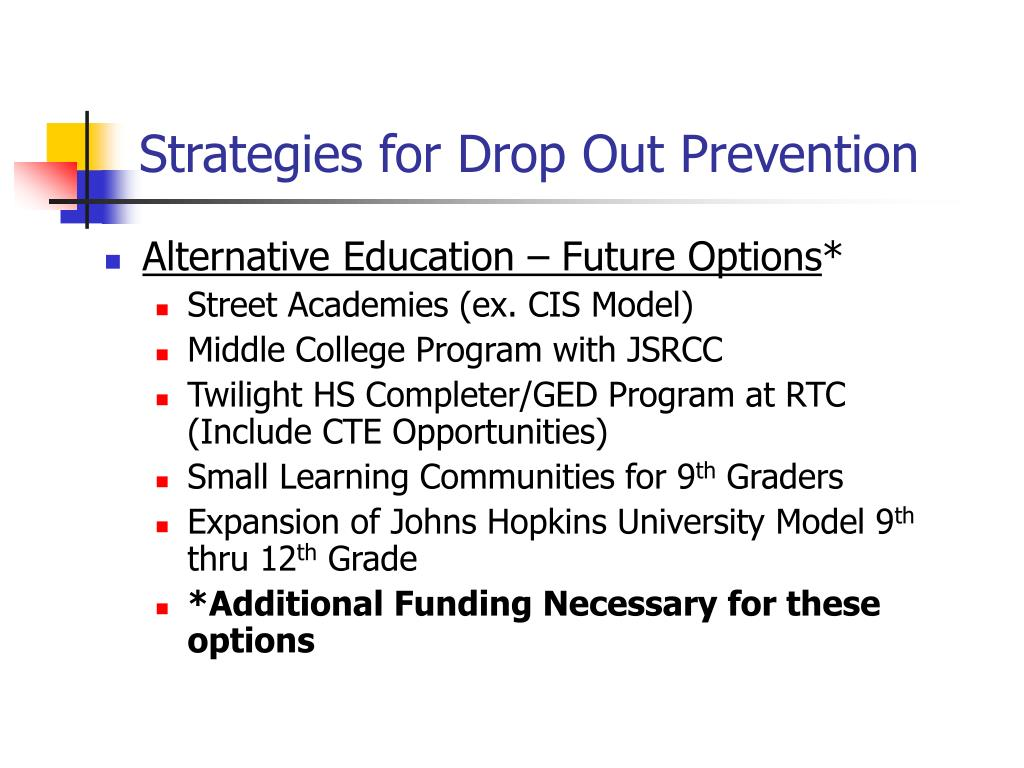 Strategies for Drop Out Prevention