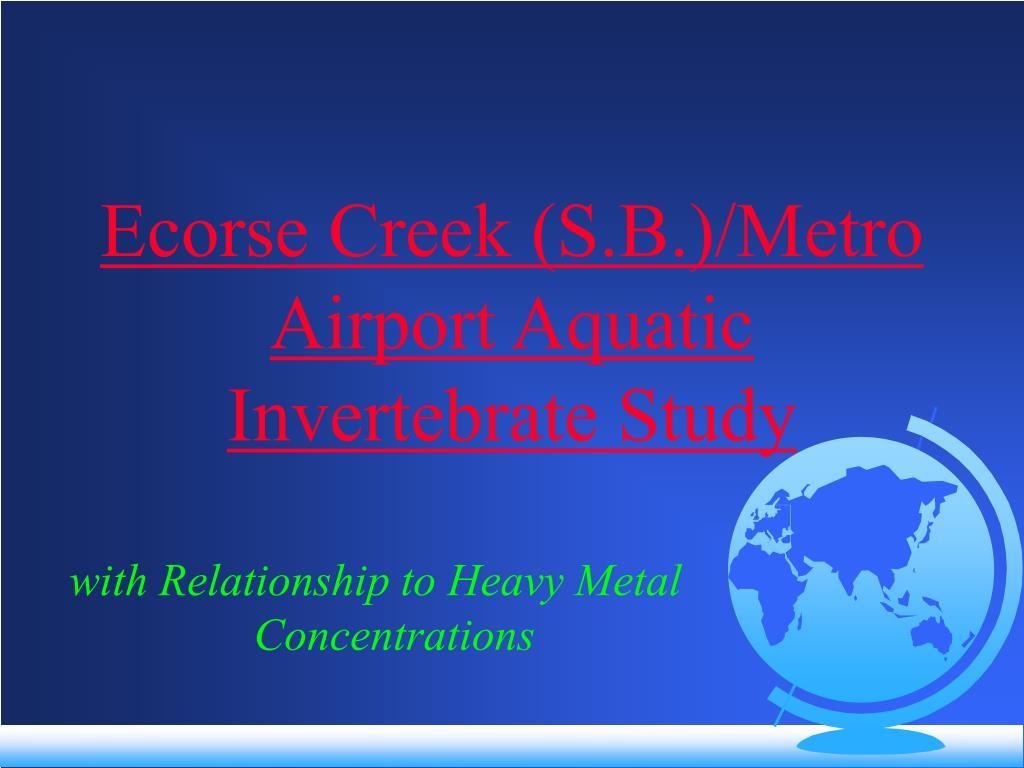 Ecorse Creek (S.B.)/Metro Airport Aquatic Invertebrate Study