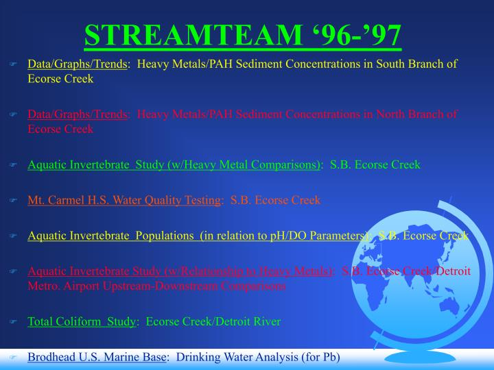 Streamteam 96 97