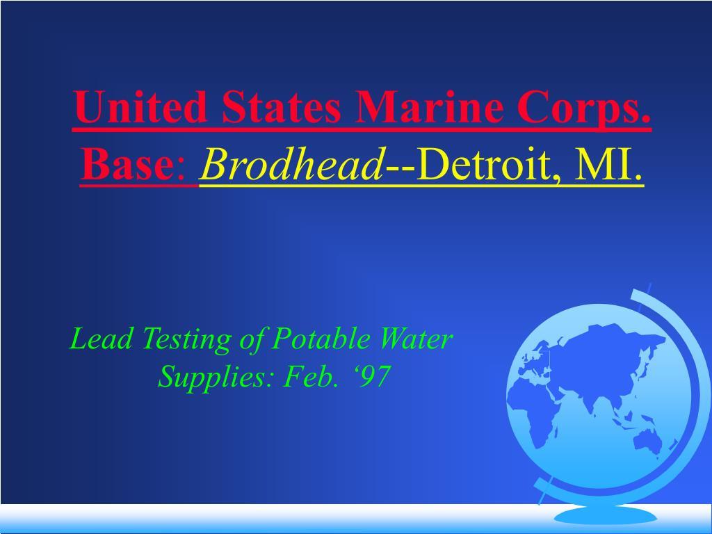 United States Marine Corps. Base
