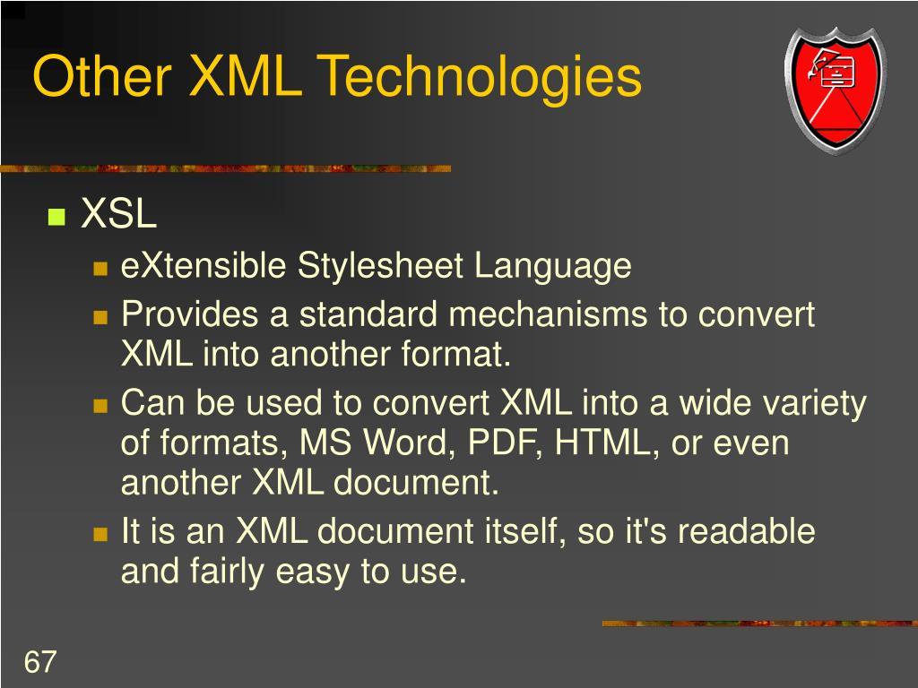 Other XML Technologies