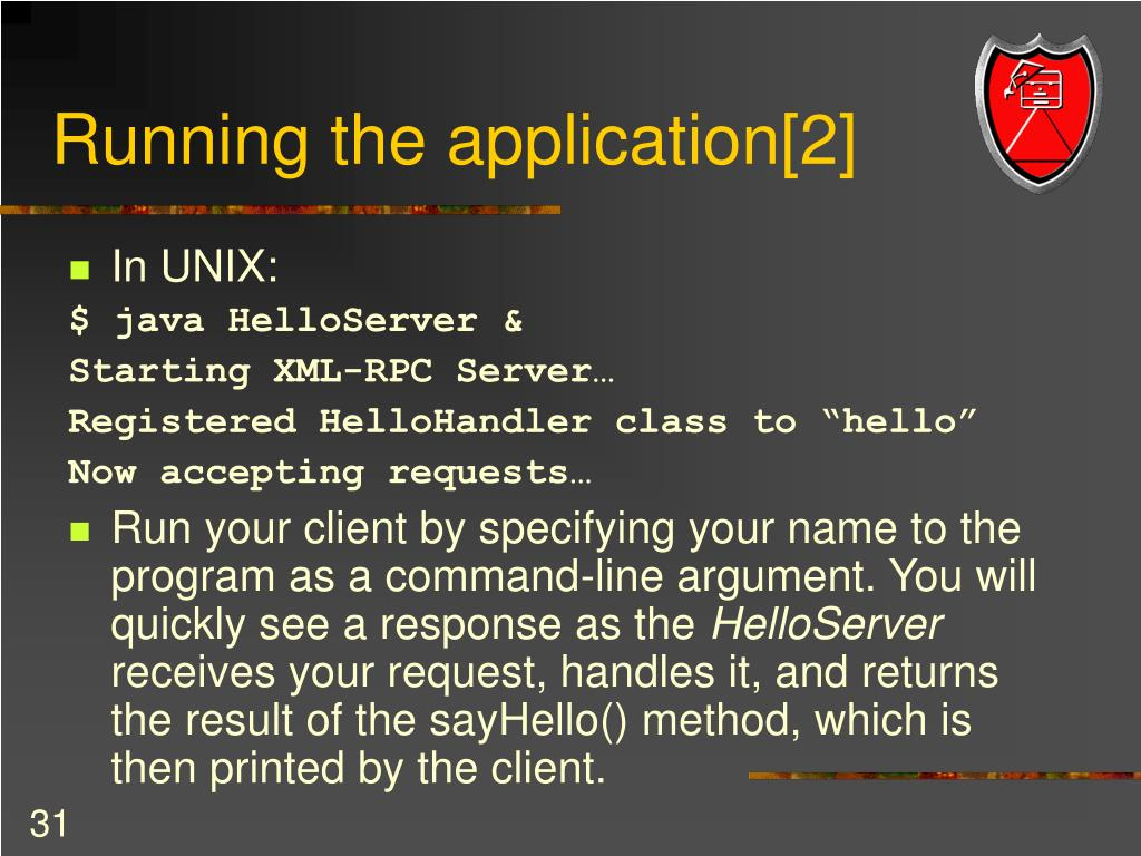 Running the application[2]