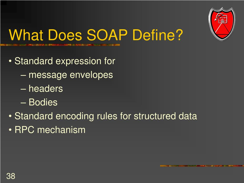 What Does SOAP Define?