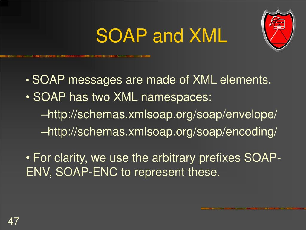 SOAP and XML