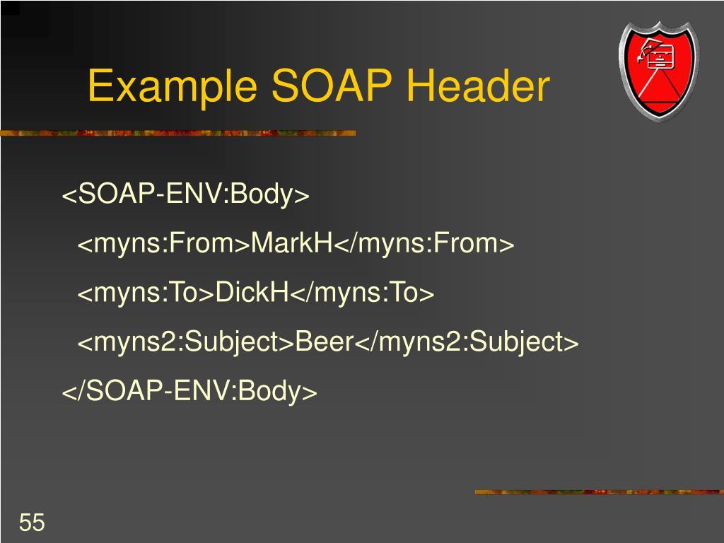 Example SOAP Header