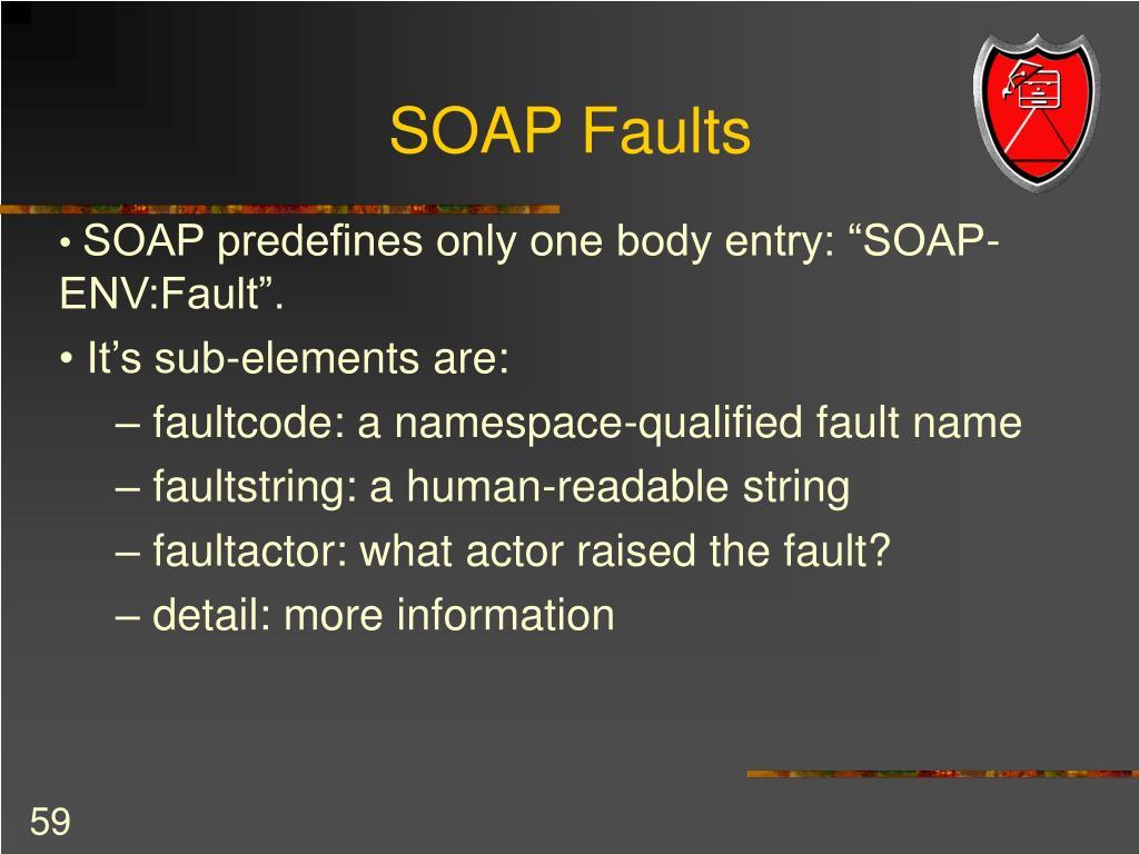 SOAP Faults