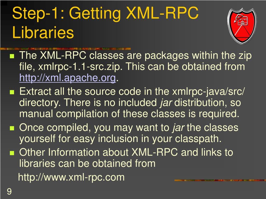 Step-1: Getting XML-RPC Libraries