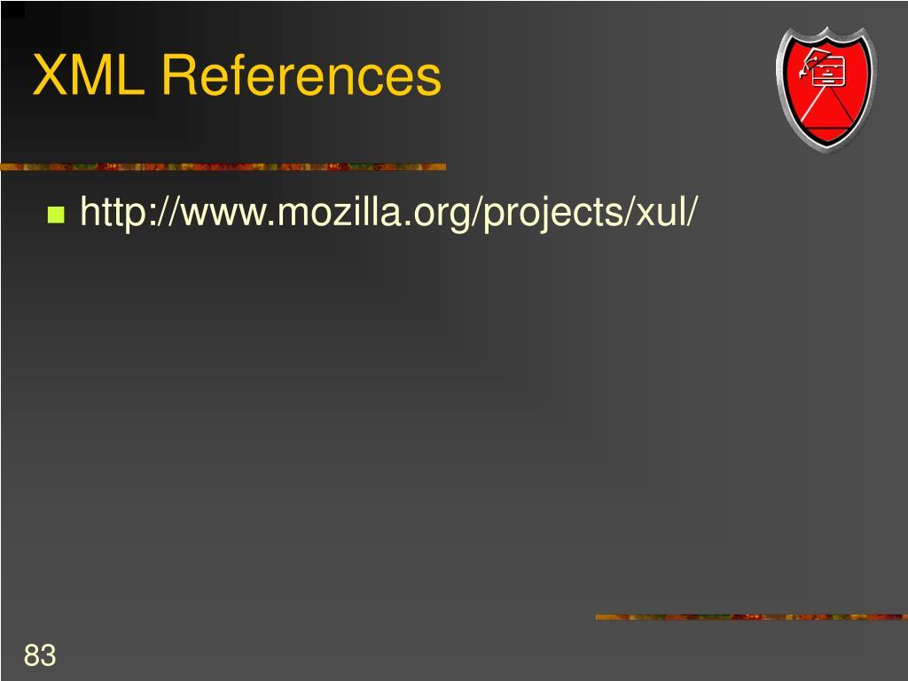 XML References